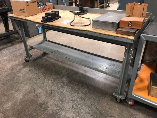 Metal Shipping Cart/Work Table
