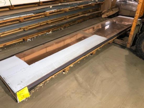 12 complete panels of ACM Composite Panels, color is Copper, Skid J