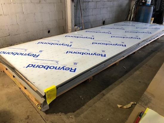 5 complete panels of ACM Composite Panels, color is Oyster White, Skid L
