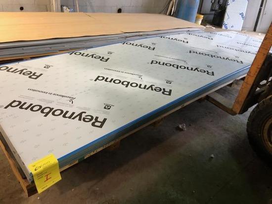 26 complete panels of ACM Composite Panels, color is Program Blue. SKID I (not one, letter i)