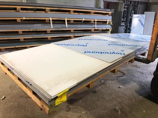 4 complete panels of ACM Composite Panels, color is Vancouver Copper, Skid B (partial)