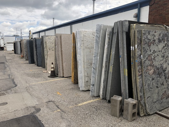 +800 Beautiful Granite & Marble Slabs & A-Frames