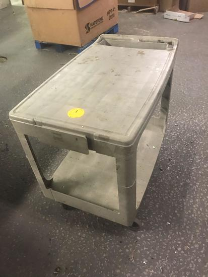 Rubbermaid hardware cart on casters 44 x 25 inch top