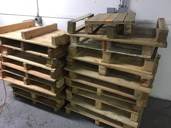 Pile of assorted pallets