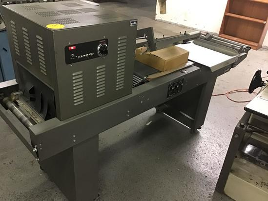 Clamco model no. 120 shrink wrap machine, powers on