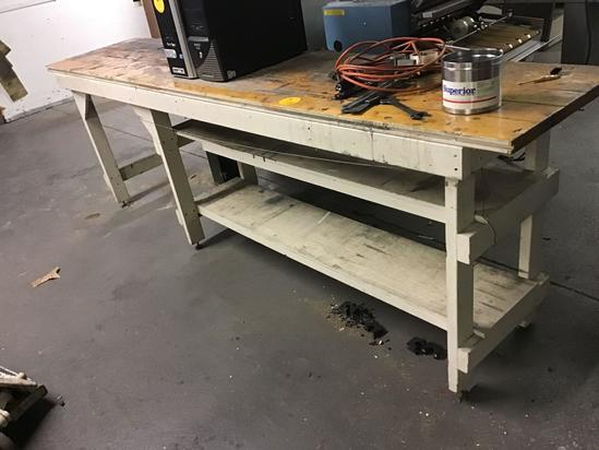 Industrial Table with T & G top