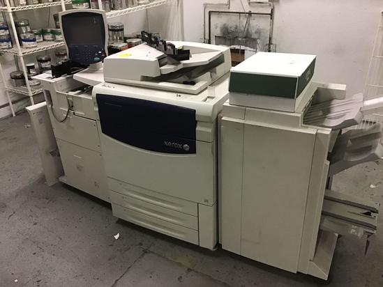 Xerox SFN-4 Finisher. This unit would not power on and appears to be a parts machine