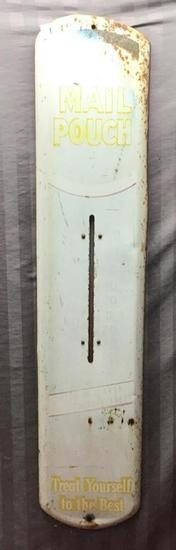 Original Mail Pouch Thermometer, 38 inches tall, with working thermometer