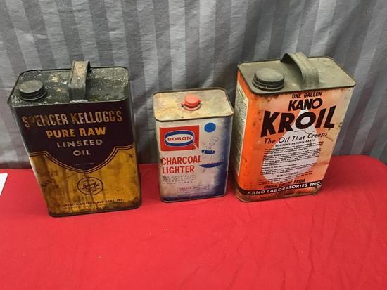 3- Vintage Oil Cans