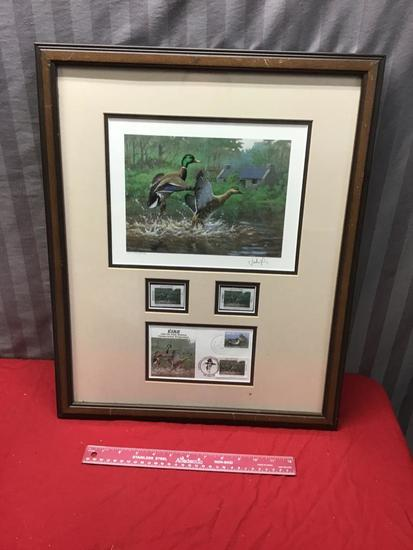 Ducks Unlimited Signed Framed Print, numbered 4467/5750