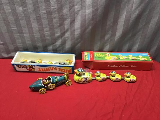 Reproducton Windup Tin Toys, 2 with boxes