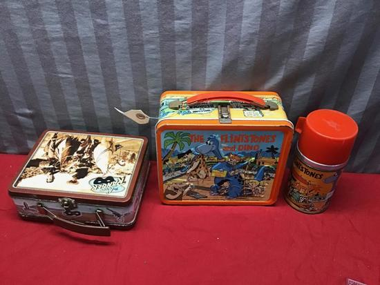 Flintstones Lunchbox with Thermos, and The Lone Ranger Lunchbox