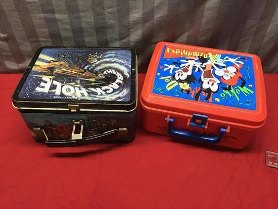 2 Vintage Lunchboxes, The Black Hole, and Animaniacs, both without thermos'