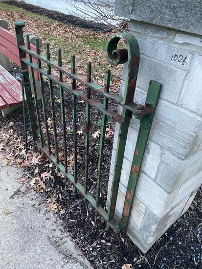 Wrought Iron Gate, cool piece, with a great look.Buyer Must Remove.