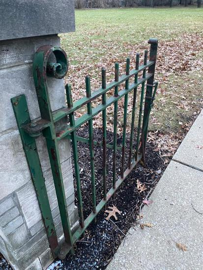 Wrought Iron Gate, cool piece, with a great look.Buyer Must Remove