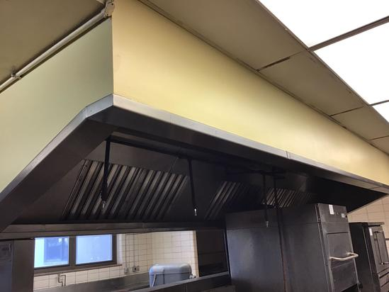 Stainless steel built in hood