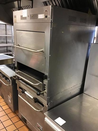 Southbend Gas Broiler, 79 inches tall, 32 inches wide, and 27 inches deep