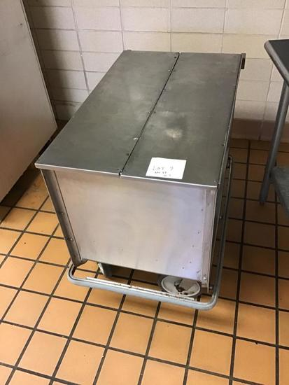 Stainless Steel cart on casters, 35 x 22 inches, 32 inches tall