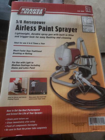 New Krause and Becker 5/8 hp airless paint sprayer