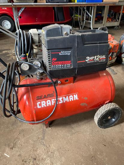 Craftsman 3hp/12gal horizontal air compressor