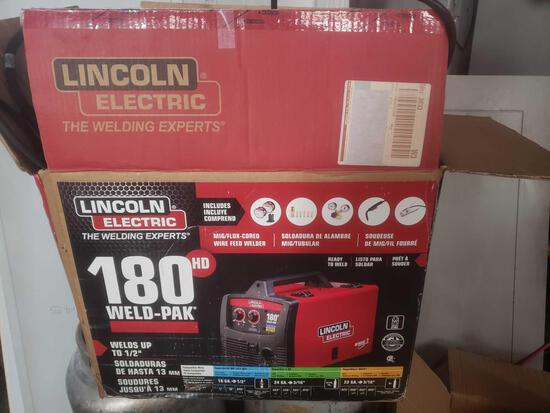 Lincoln electric 180 weld pack like new with cart and accessories