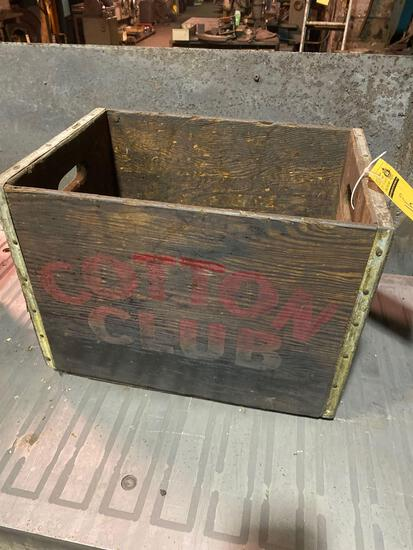 Cotton Club wooden crate