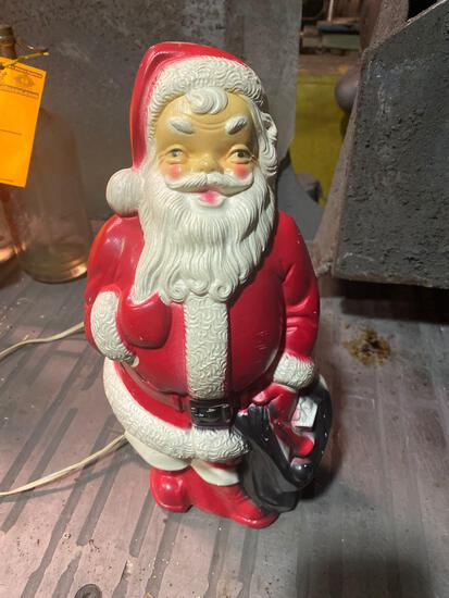1968 Empire Santa Claus Blowmold with power cord approx 13 inches tall