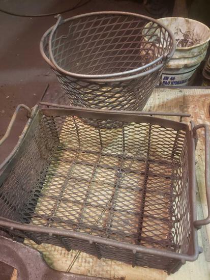2 vintage baskets