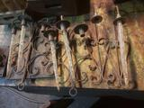 Vintage candle holders and candles