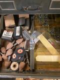Drawer load of assorted tooling and stones