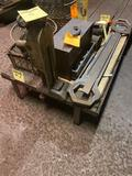 36 x 48 inch vintage skid on wheels NO CONTENTS
