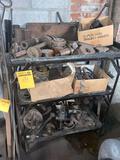 Shelf loaded with scrap