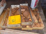 5 Trays of small chunks of steel