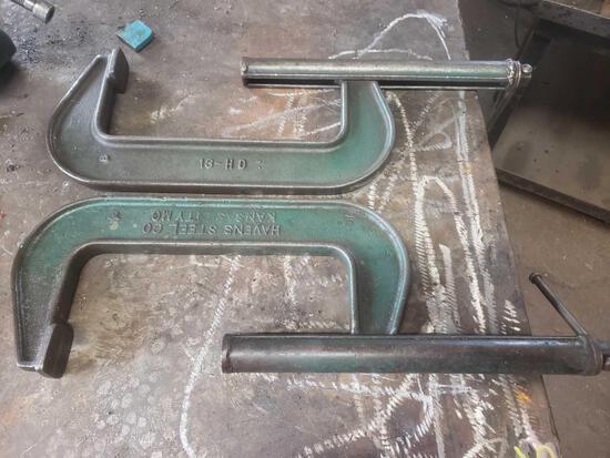 2 Havens Steel Co. Heavy Duty clamps 13-hd