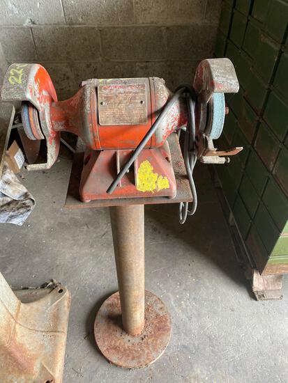 Dual ped grinder