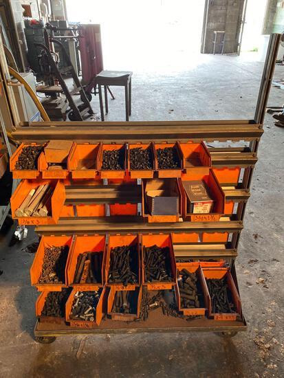 Rolling sorter full of assorted set screws & hardware