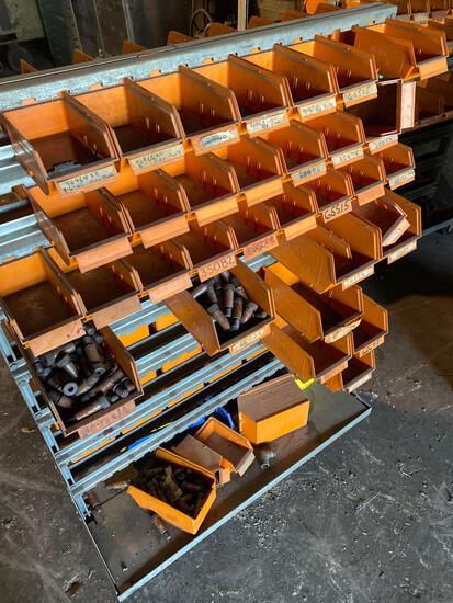 Rolling tool sorter w/ assorted set screws & hardware