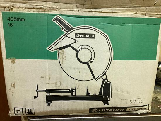 New in Box, Hitachi CC 16SA, 16 in Cut Off Saw