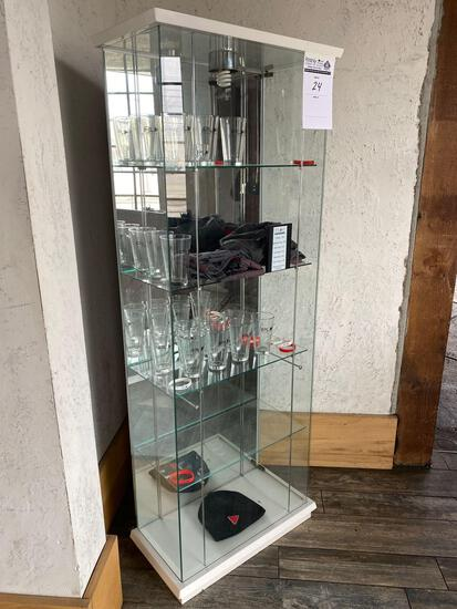 6 ft Lighted Display Case-No Contents