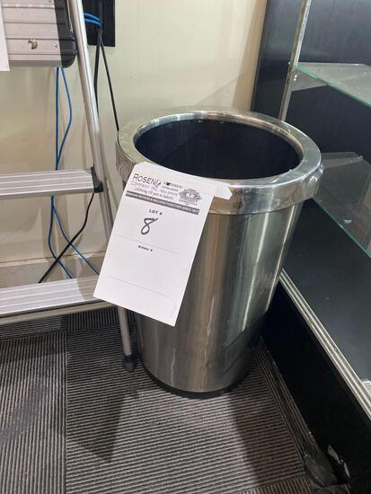 Stainless behind the counter trash can