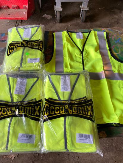 Group of (15) Large New Safety Vests