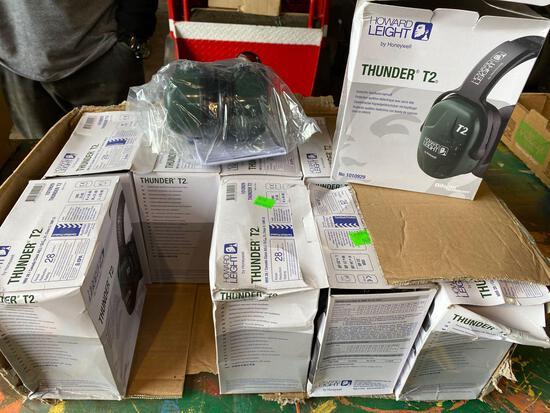 (10) New Thunder T2 Howard Leight Headphone/Earmuffs