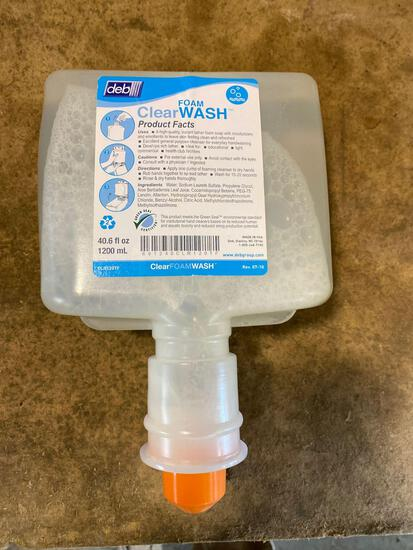 (15) cases of Deb Co 40.6 oz Foam Clear Hand Wash