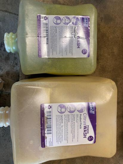 (4) bottles of 4liter Citrus hand wash and (3) bottles of 2liter Lime wash.