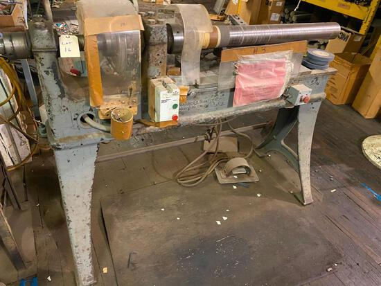 Warner Swasey Co Lathe repurposed into a Band recut machine