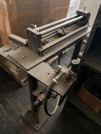 Pneumatic Crimper or cutter on stand...