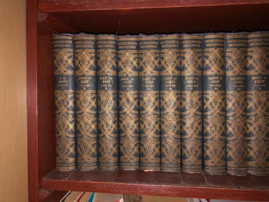 Antique set of Encyclopedia Britannica?s