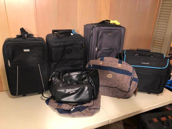 Large camera bag, 3 suitcases & 3 overnight bags