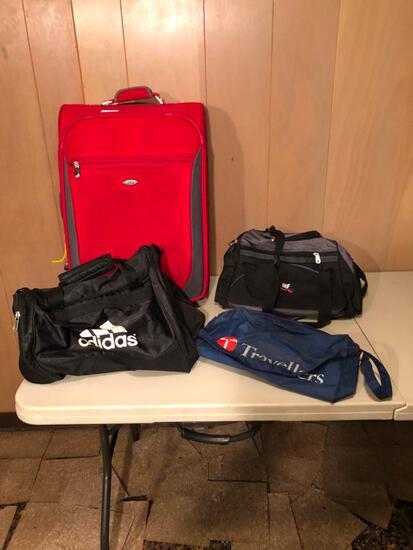 Adidas gym bag, suitcase and luggage