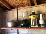 Cast iron pot, Juice extractor, food chopper,
